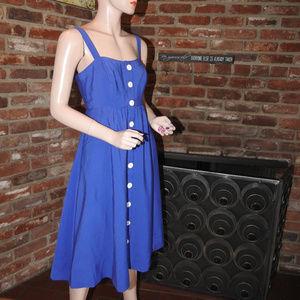 Anthropologie Blue Sun Dress 4P
